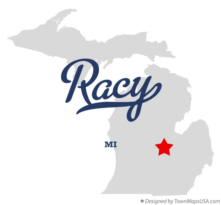 Map of Racy Michigan MI