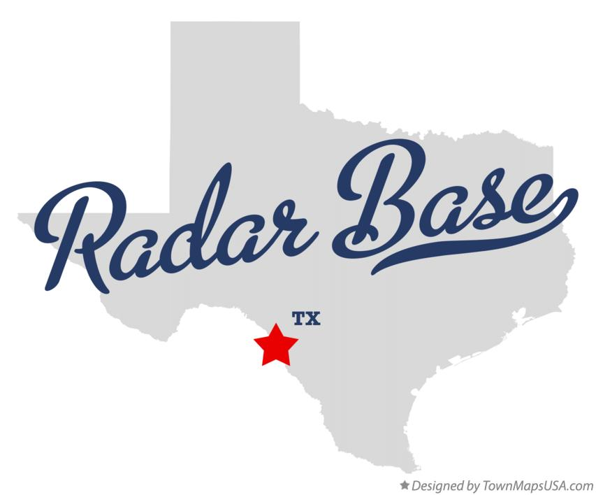 Map of Radar Base Texas TX