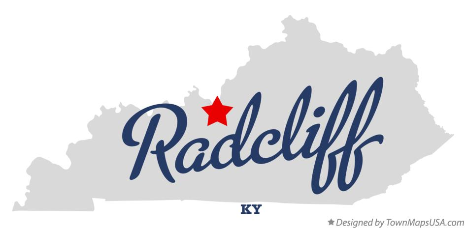Map of Radcliff Kentucky KY