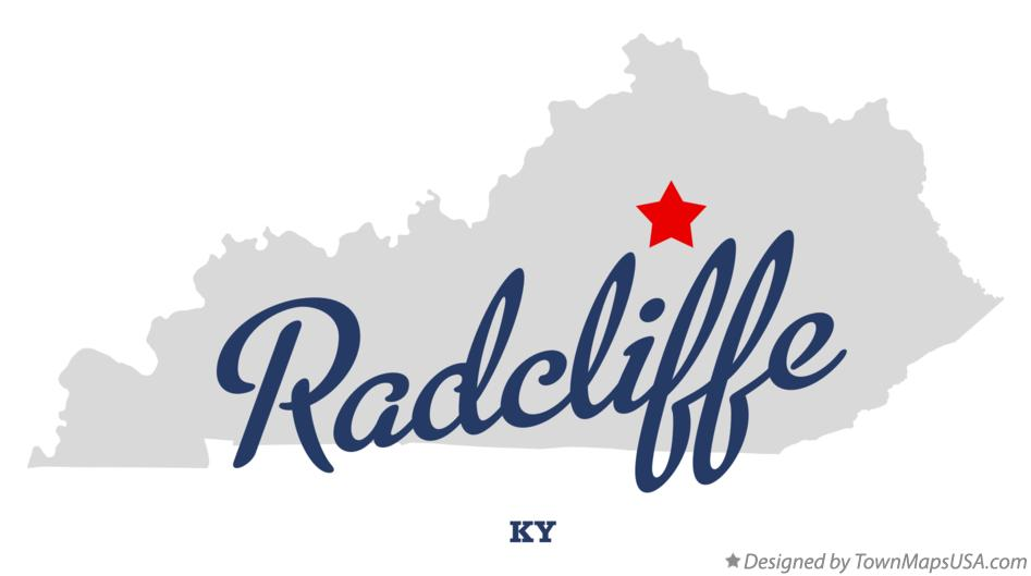 Map of Radcliffe Kentucky KY
