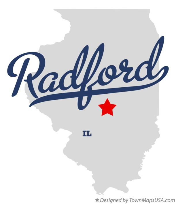 Map of Radford Illinois IL