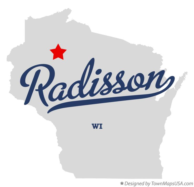 Map of Radisson Wisconsin WI