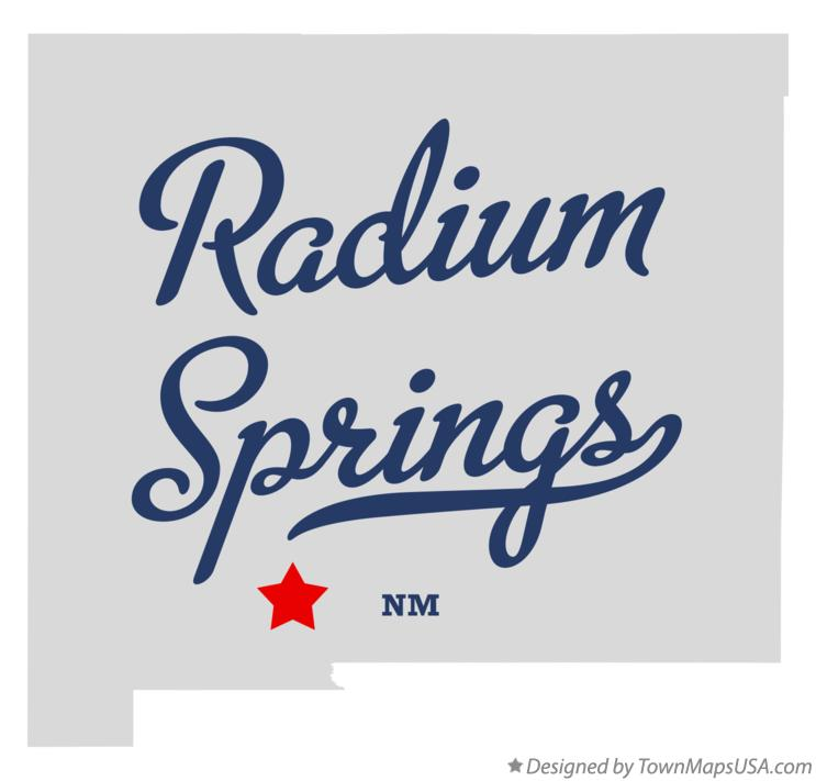 Map of Radium Springs New Mexico NM
