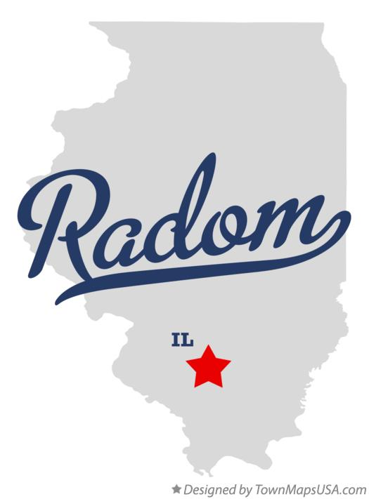 Map of Radom Illinois IL