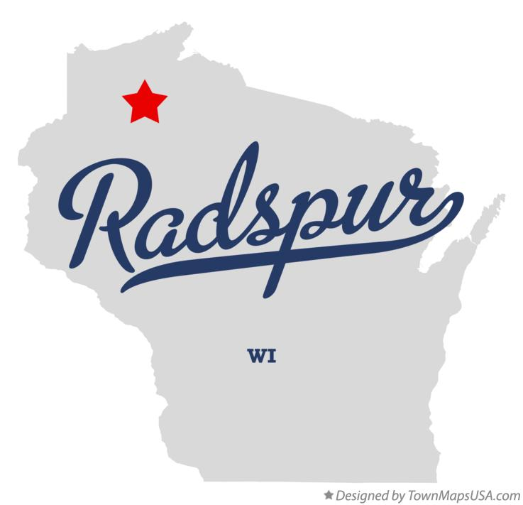 Map of Radspur Wisconsin WI