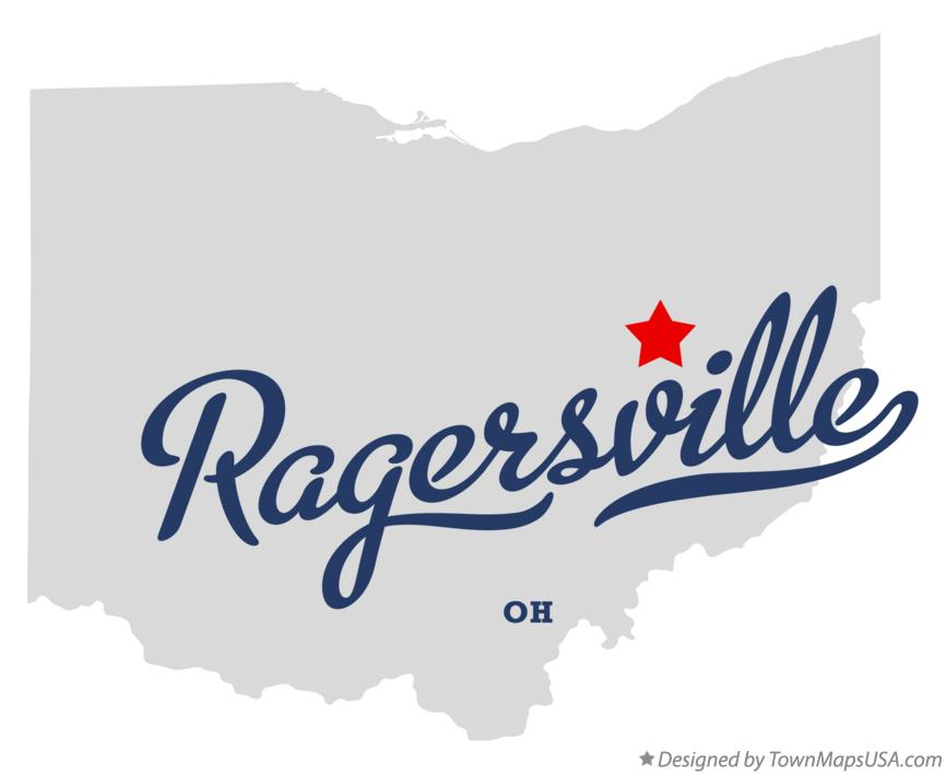Map of Ragersville Ohio OH