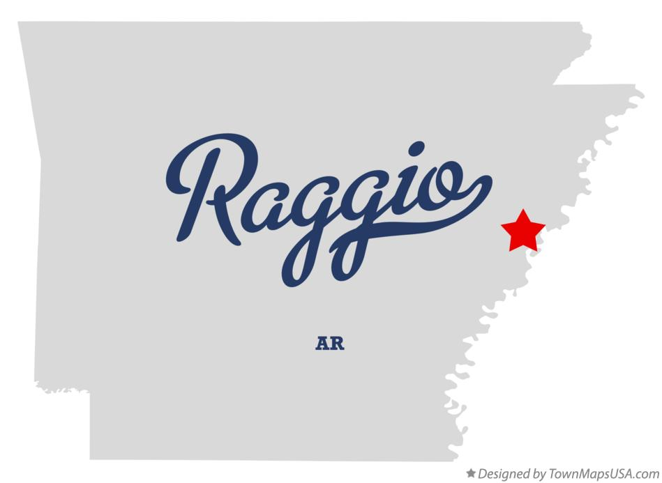 Map of Raggio Arkansas AR