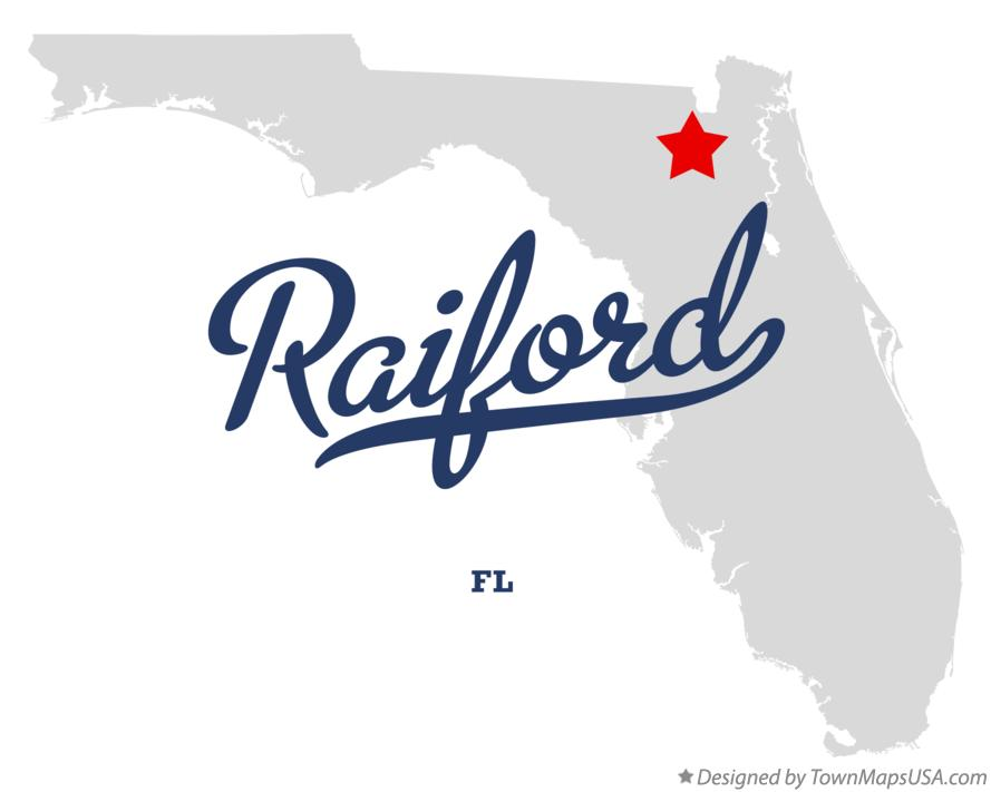 Map of Raiford Florida FL