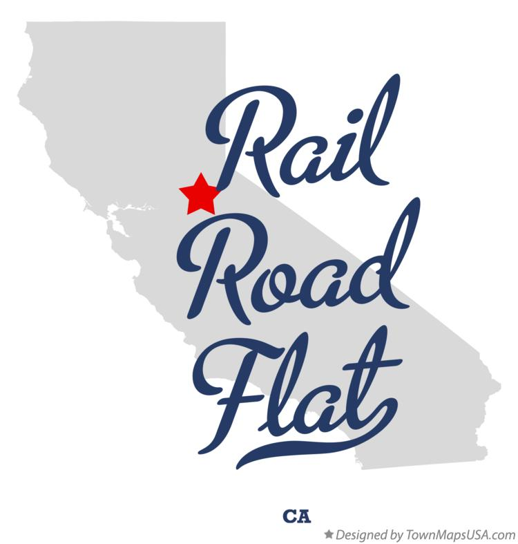 Map of Rail Road Flat California CA