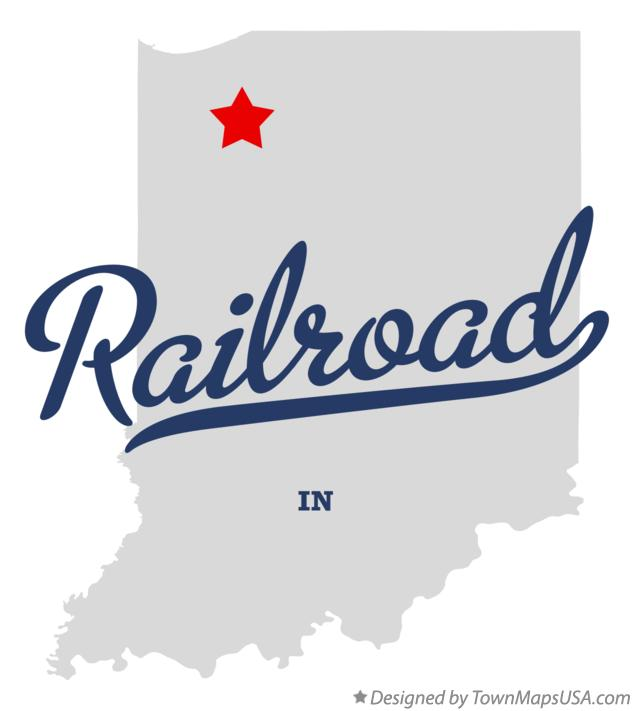 Map of Railroad Indiana IN