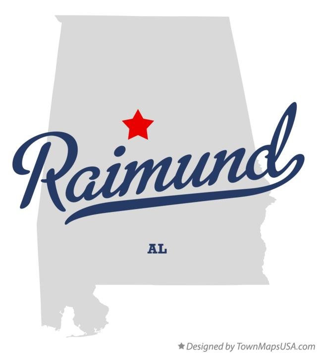Map of Raimund Alabama AL