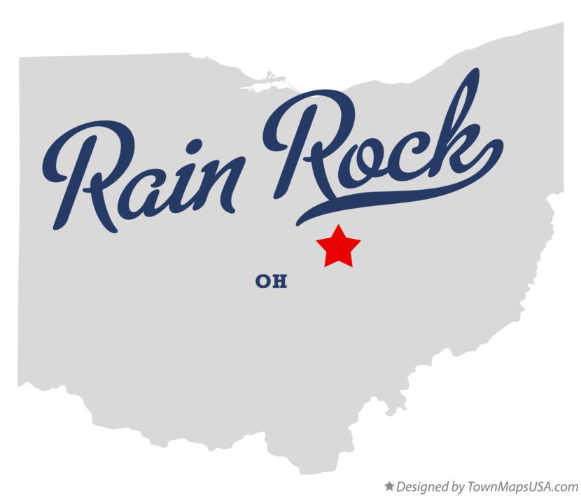 Map of Rain Rock Ohio OH