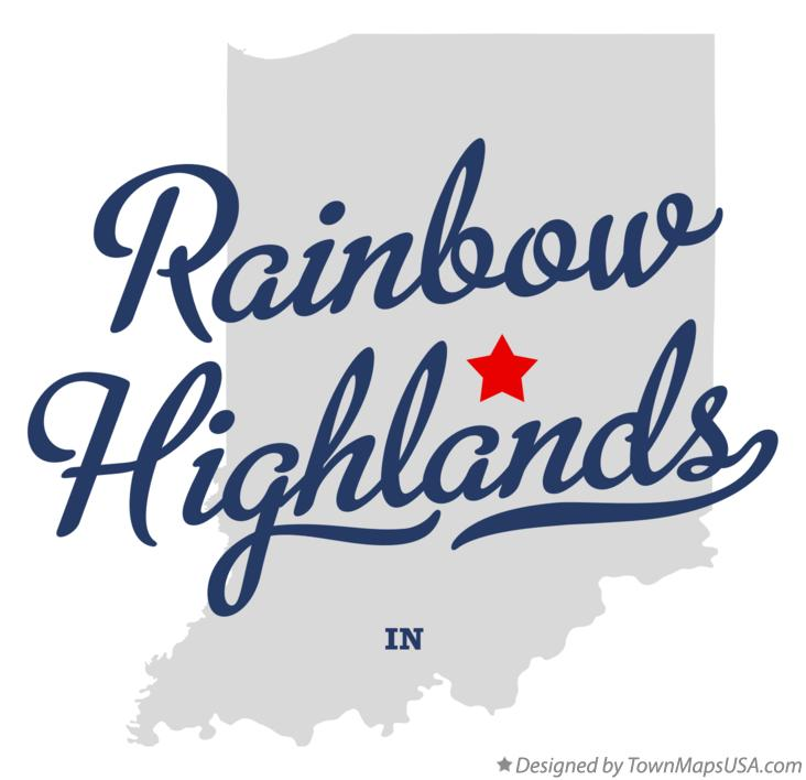 Map of Rainbow Highlands Indiana IN