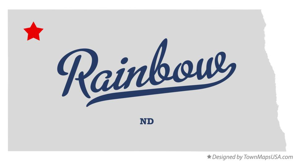 Map of Rainbow North Dakota ND