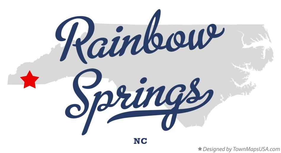 Map of Rainbow Springs North Carolina NC