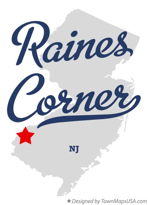 Map of Raines Corner New Jersey NJ