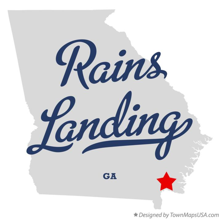 Map of Rains Landing Georgia GA