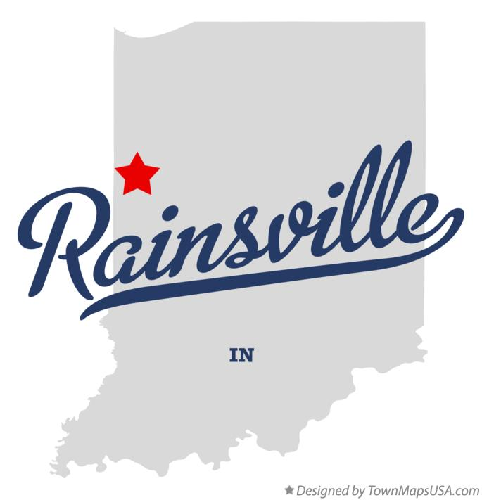 Map of Rainsville Indiana IN