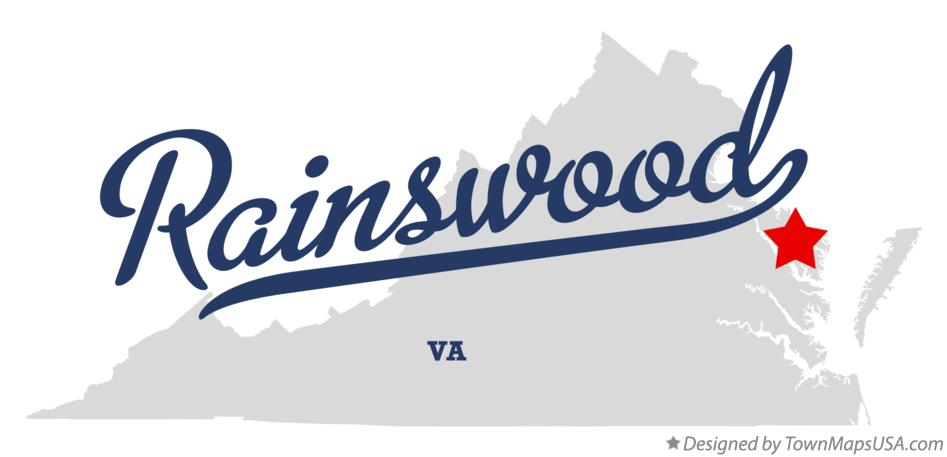 Map of Rainswood Virginia VA