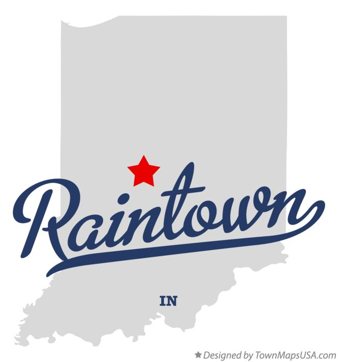 Map of Raintown Indiana IN