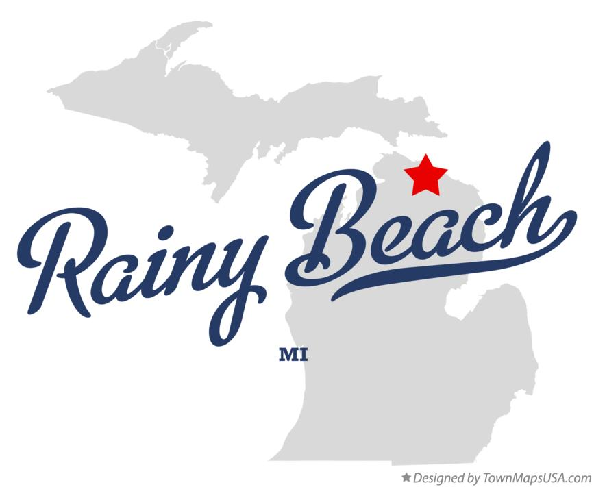 Map of Rainy Beach Michigan MI
