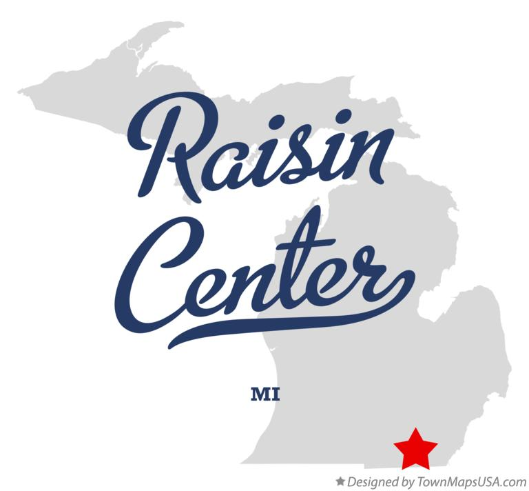 Map of Raisin Center Michigan MI