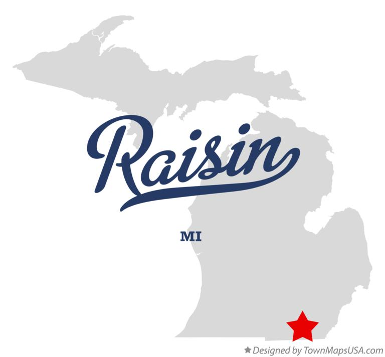 Map of Raisin Michigan MI