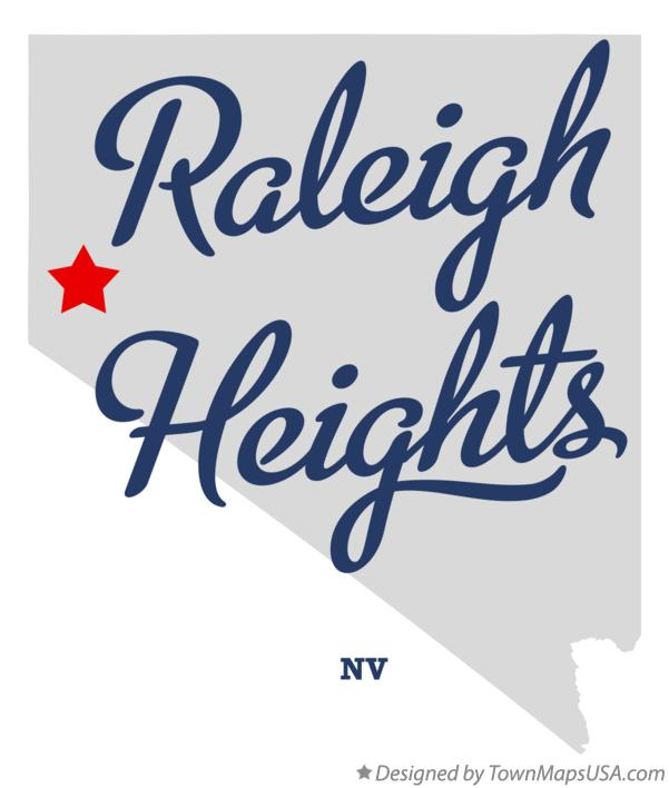 Map of Raleigh Heights Nevada NV