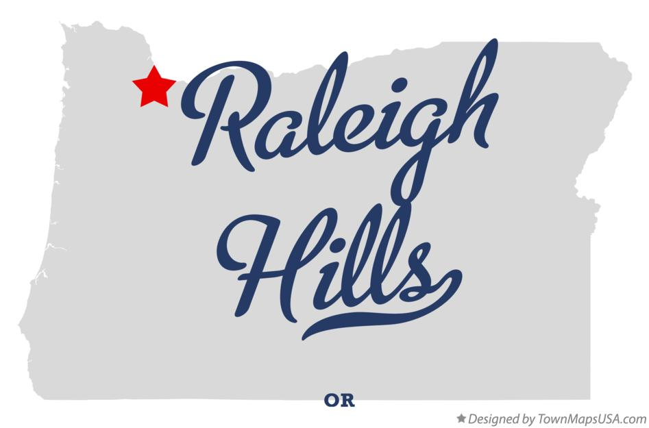 Map of Raleigh Hills Oregon OR