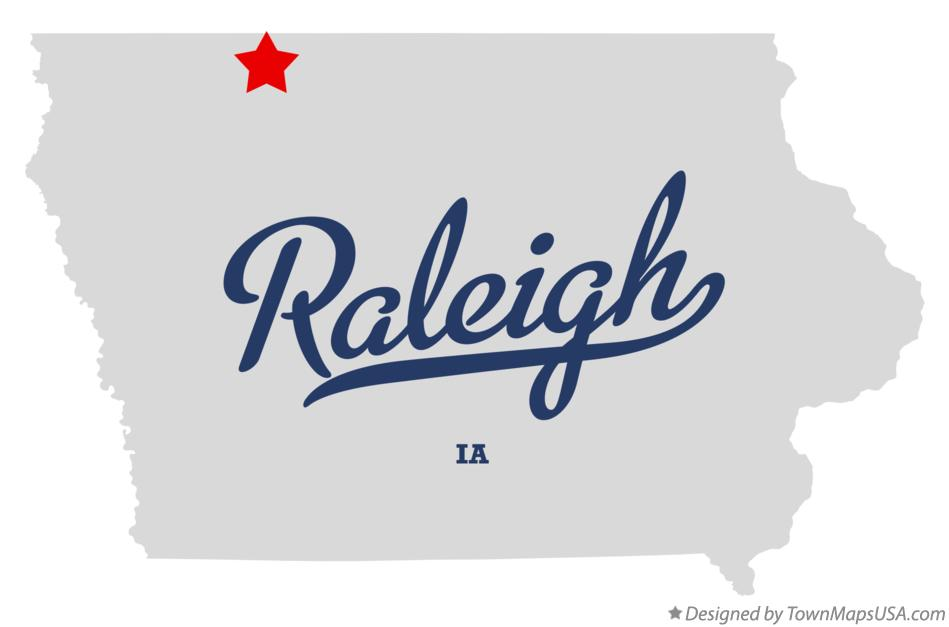 Map of Raleigh Iowa IA