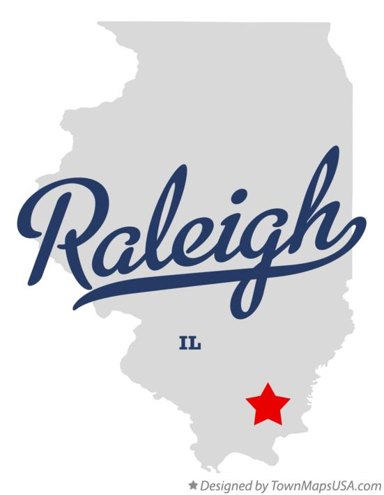 Map of Raleigh Illinois IL