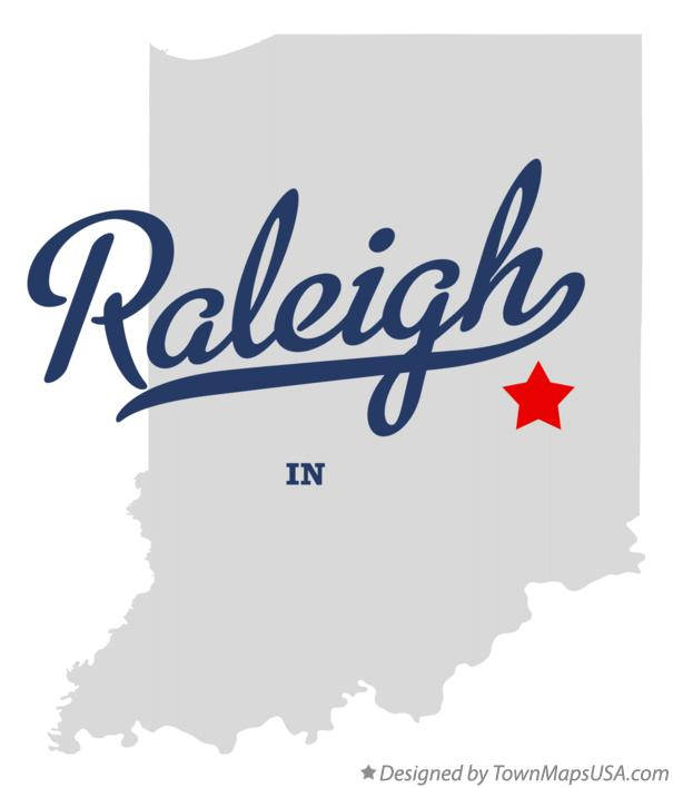 Map of Raleigh Indiana IN