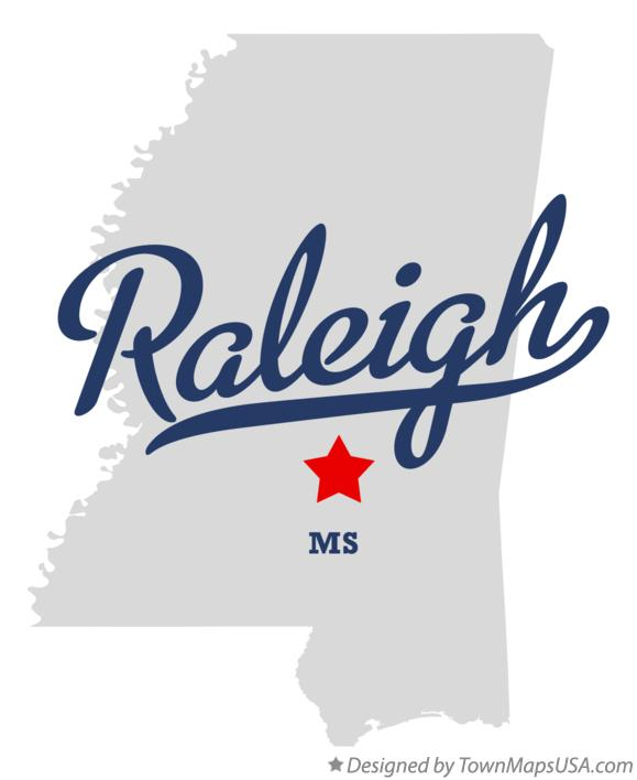 Map of Raleigh Mississippi MS