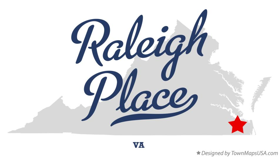 Map of Raleigh Place Virginia VA