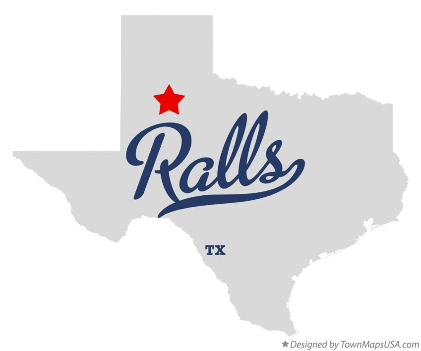 Map of Ralls Texas TX