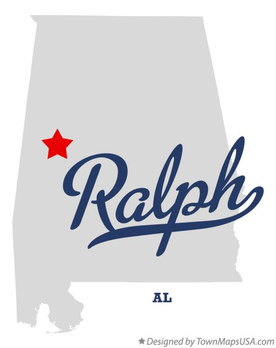 Map of Ralph Alabama AL