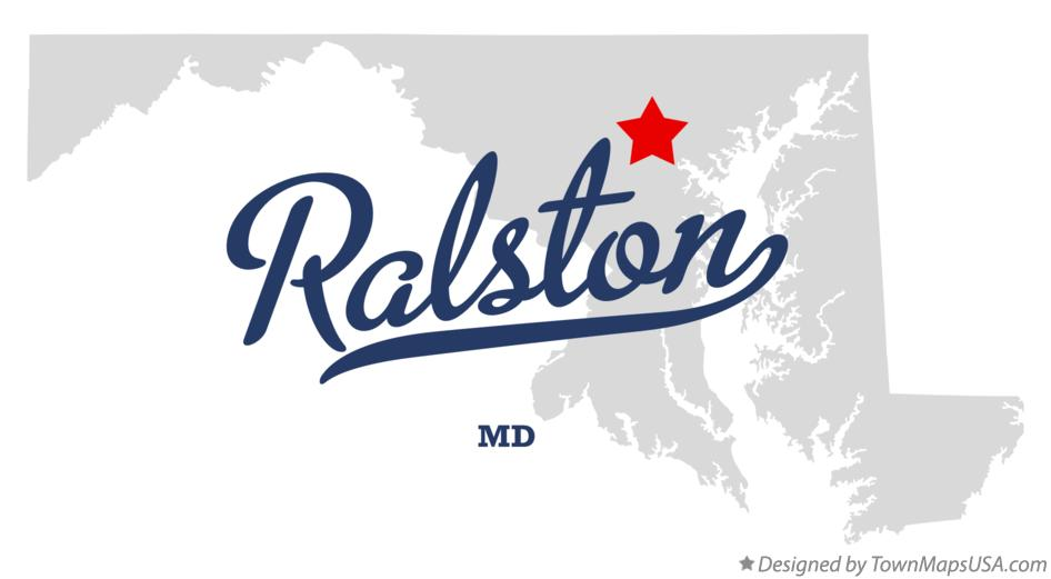 Map of Ralston Maryland MD