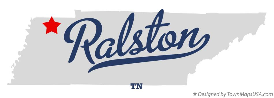 Map of Ralston Tennessee TN