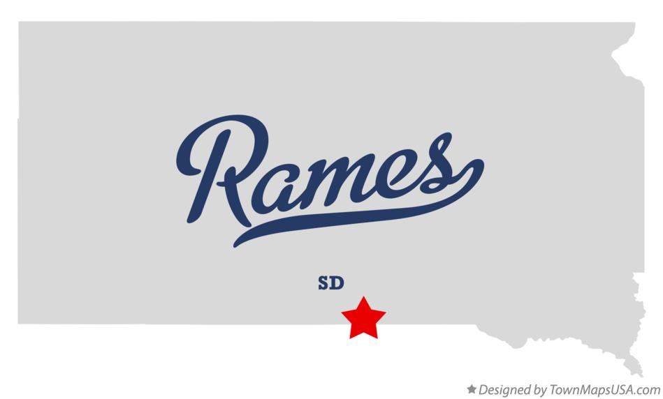 Map of Rames South Dakota SD