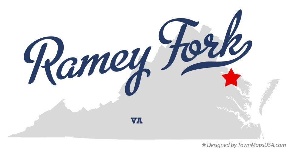 Map of Ramey Fork Virginia VA