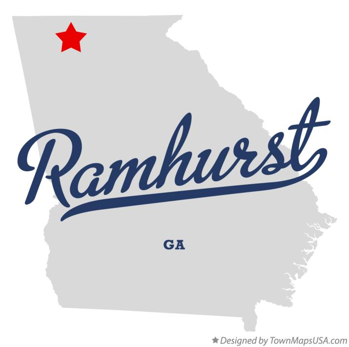 Map of Ramhurst Georgia GA