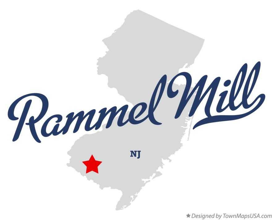 Map of Rammel Mill New Jersey NJ