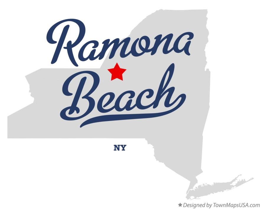 Map of Ramona Beach New York NY