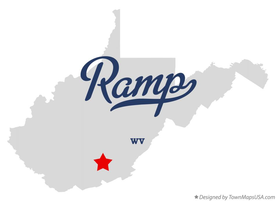 Map of Ramp West Virginia WV