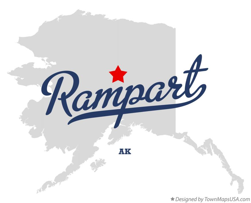 Map of Rampart Alaska AK