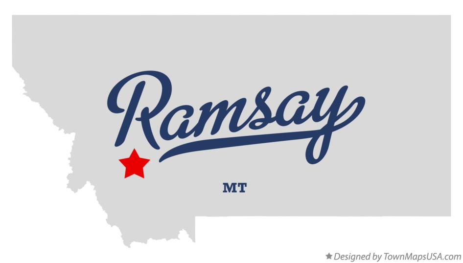 Map of Ramsay Montana MT