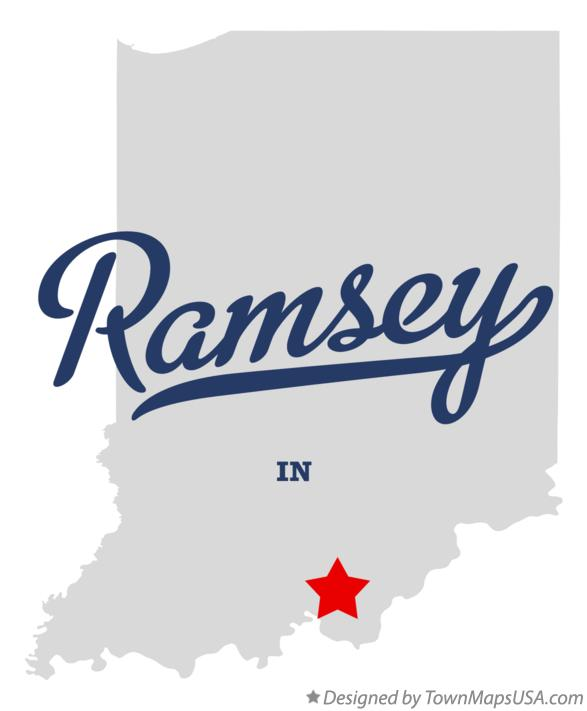 Map of Ramsey Indiana IN