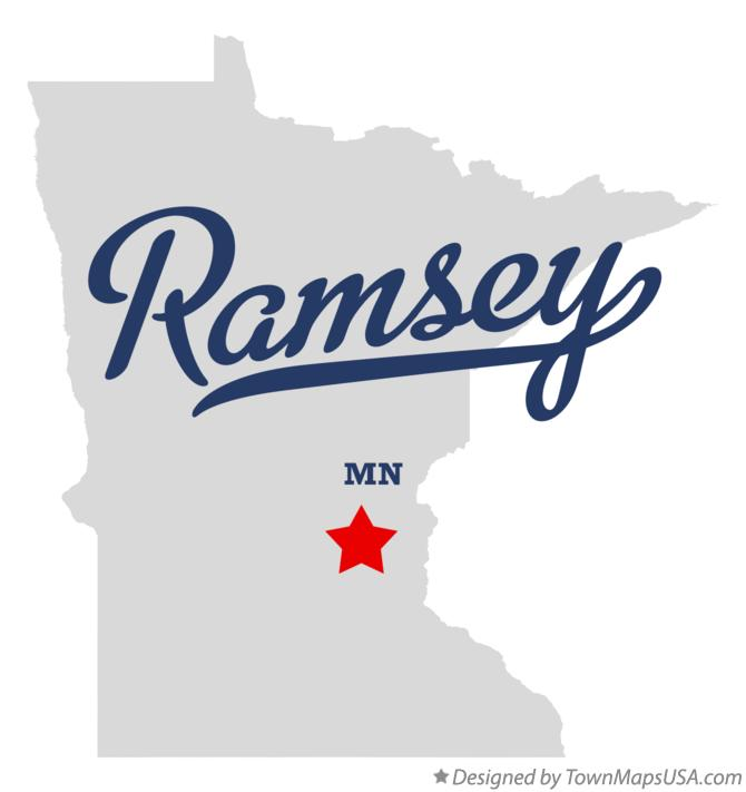 Map of Ramsey Minnesota MN