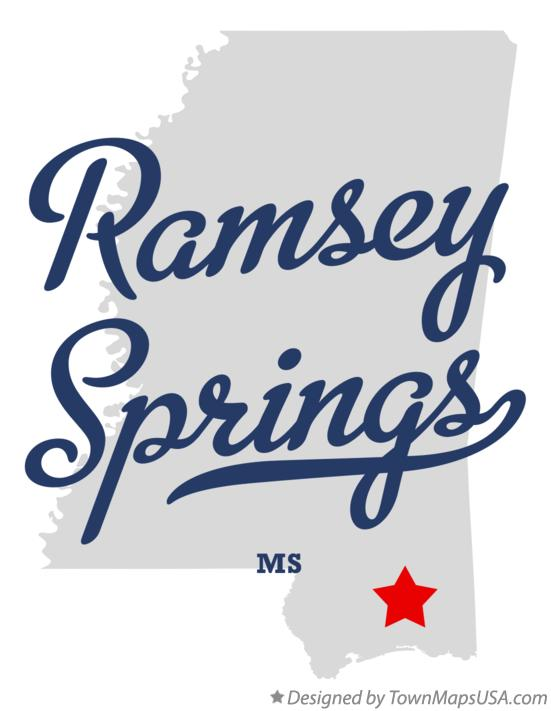 Map of Ramsey Springs Mississippi MS