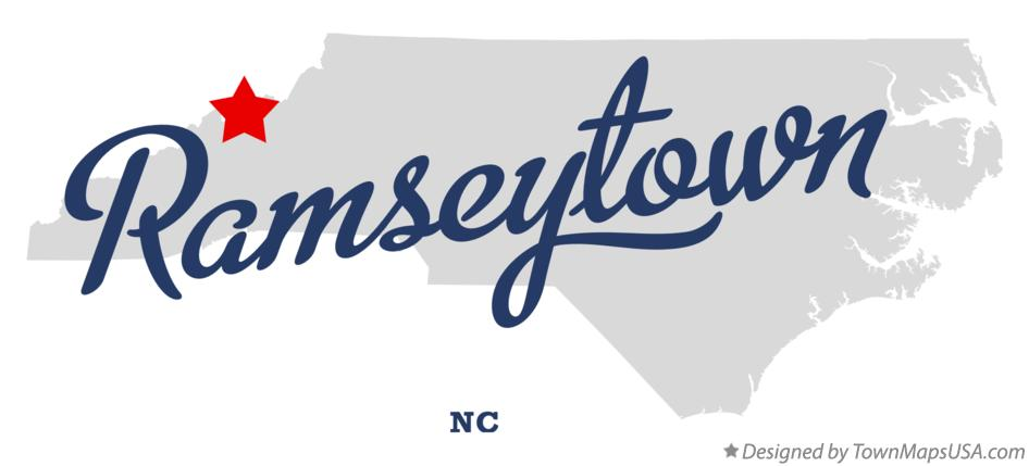Map of Ramseytown North Carolina NC